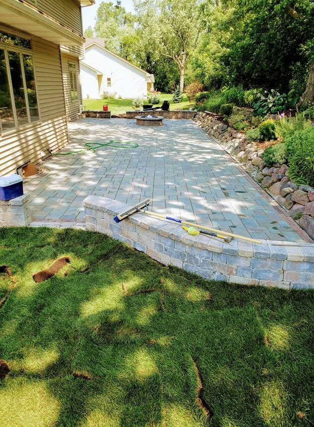Luna Lawn Care Services Residential Patio Construction